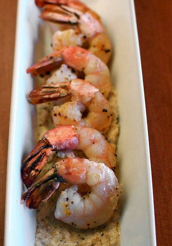 seared shrimp with garlic-almond sauce | by shauna | glutenfreegirl
