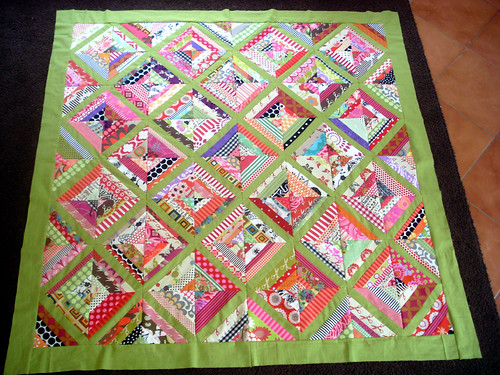 Finished Beehive quilt top | by patchandi