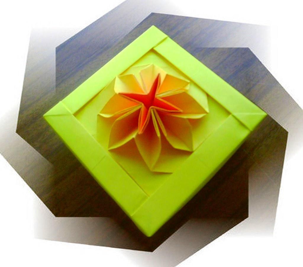 New origami flower box katrins18 flickr new origami flower box by katrins18 mightylinksfo