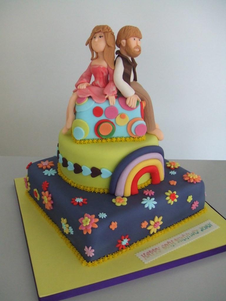 Cake Hippie Birthday Jules Enquiriescakechester Flickr