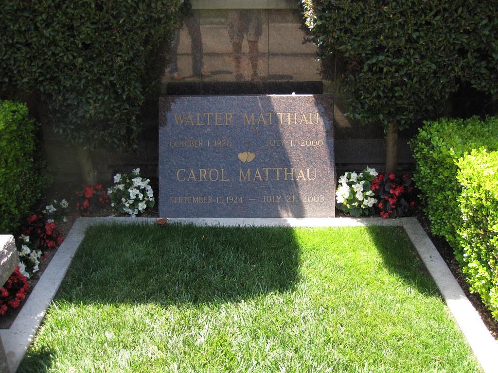 Walter Matthau Gravesite Westwood Village Memorial Park