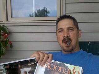 David Moscardelli Enjoying A Brickhouse On The Porch
