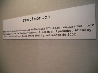 Sign of Describing the Testimonies of the Disappeared | by The Advocacy Project