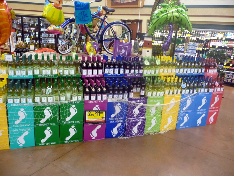 Barefoot Wine Display At Ralphs The Whites Are Your