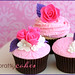 Pink Rose Wedding Cupcakes