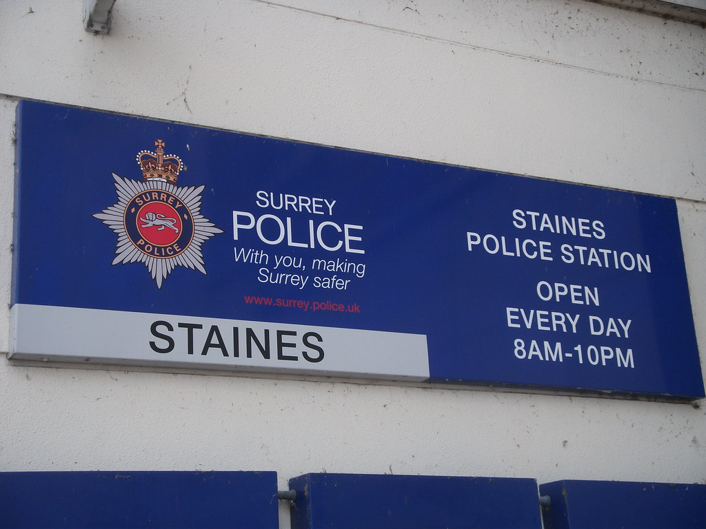 signage from staines police station surrey signage from