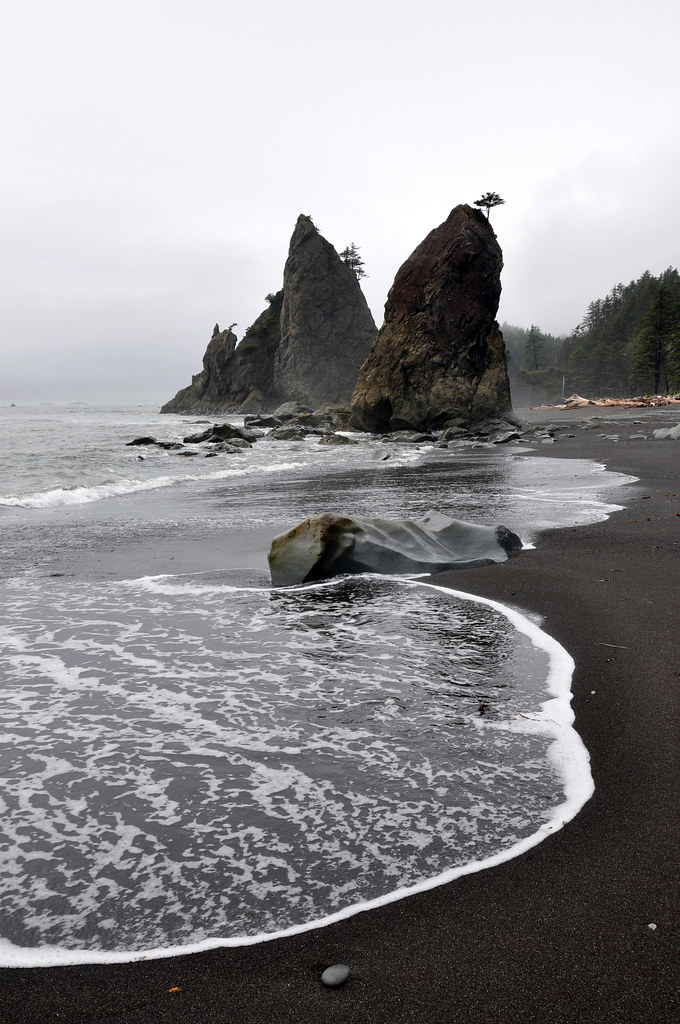 Pacific Coastline Wa Rialto Beach Olympic National