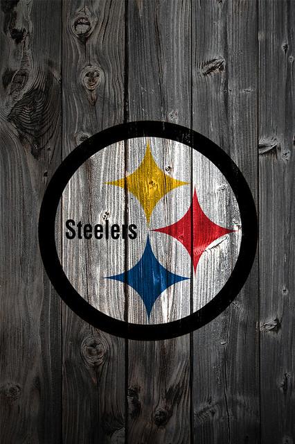 Pittsburgh Steelers Wood iPhone 4 Background
