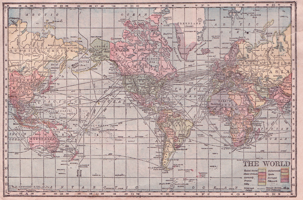 Hammond cylindrical projection world map 1905 hammonds ma flickr hammond cylindrical projection world map 1905 by perpetualplum gumiabroncs Choice Image