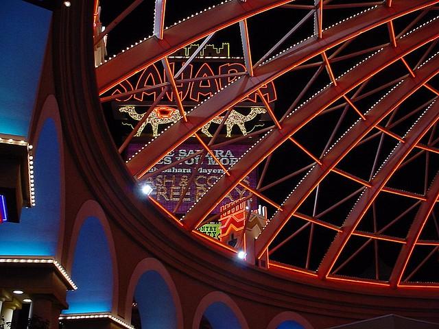Sahara Casino Las Vegas At Night Flickr Photo Sharing