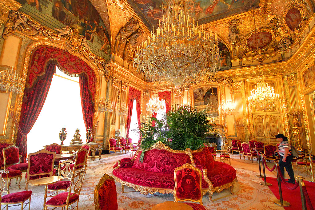 Napoleon Apartment At The Louvre Here Is One Of The Room