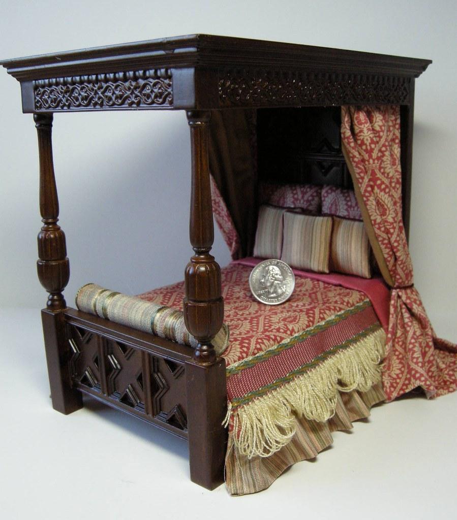 Dollhouse Tudor Bed By JBM Miniatures Australia