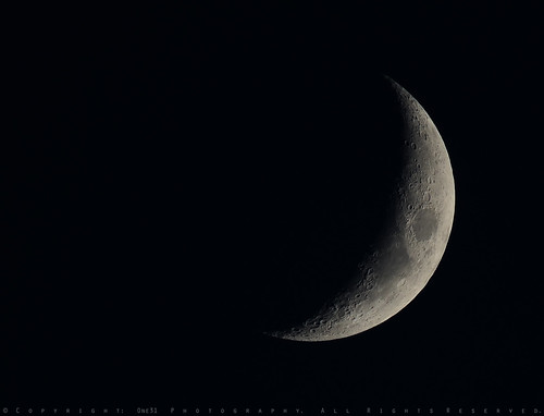 July Waxing Crescent Moon 26% | by AV8TER