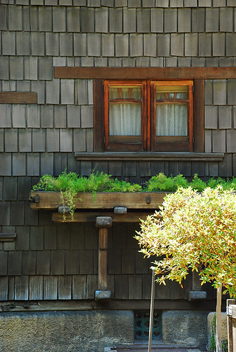 Gamble house window planter jason rydquist flickr for Craftsman style window boxes