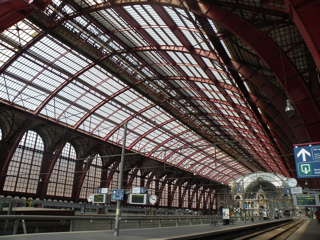 Centraal Station Antwerpen Het Hoofdgebouw Van Het