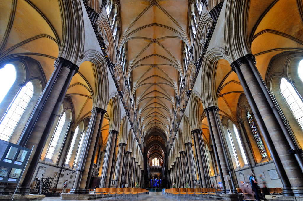 The Interior Of Salisbury Cathedral Wiltshire England