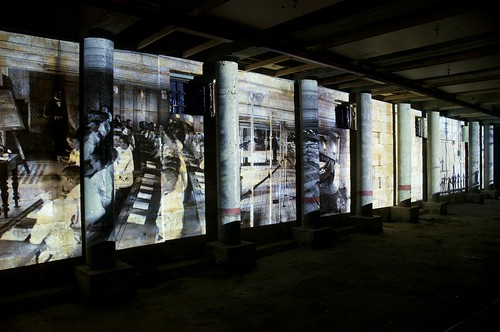Wall Projection Installation 2 Inside An Old Convict