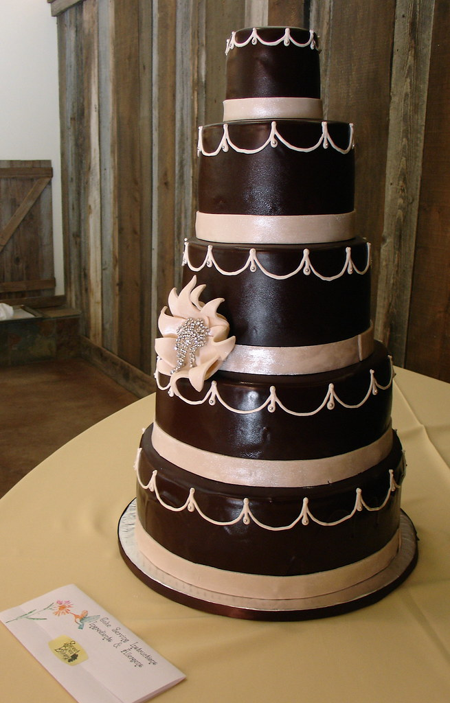 Tall 5 Tier Chocolate Wedding Cake Carrie S Tallest Cake