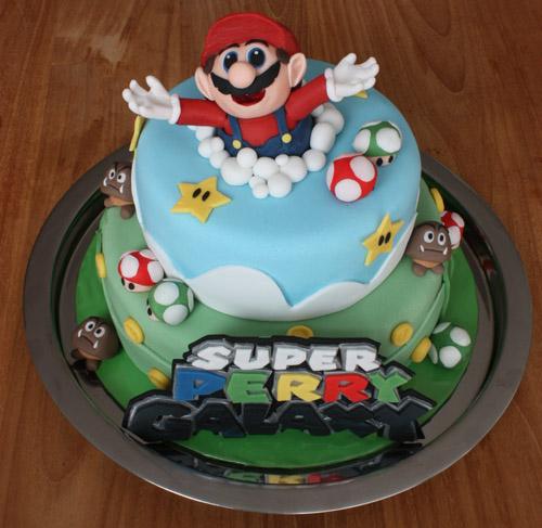 Images Of 1st Anniversary Cake : Super Mario Galaxy cake This is a Super Mario Galaxy ...