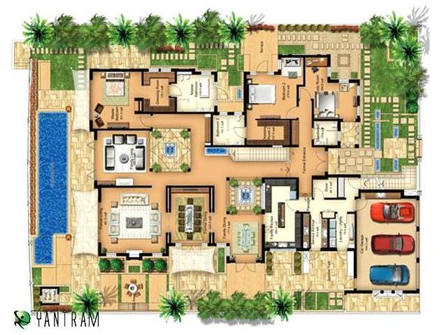3d floor plan building plans india 3d floor plan Free indian home plans and designs