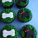 Scottie Dog and Bone Cupcakes