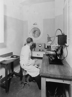 hmv 363 Oxford Street, London - Interior of recoding studio 1940s