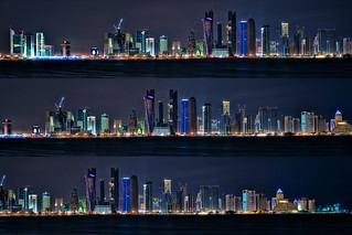 Doha Night Skyline | by christian.senger