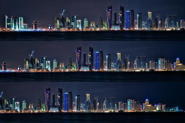 Doha Night Skyline | Flickr - Photo Sharing!