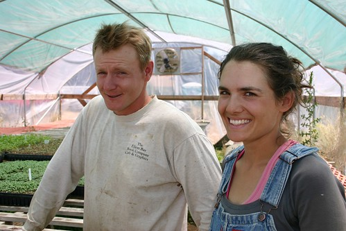 Matt McCue and Lily Schneider of Shooting Star CSA, an organic farm in California