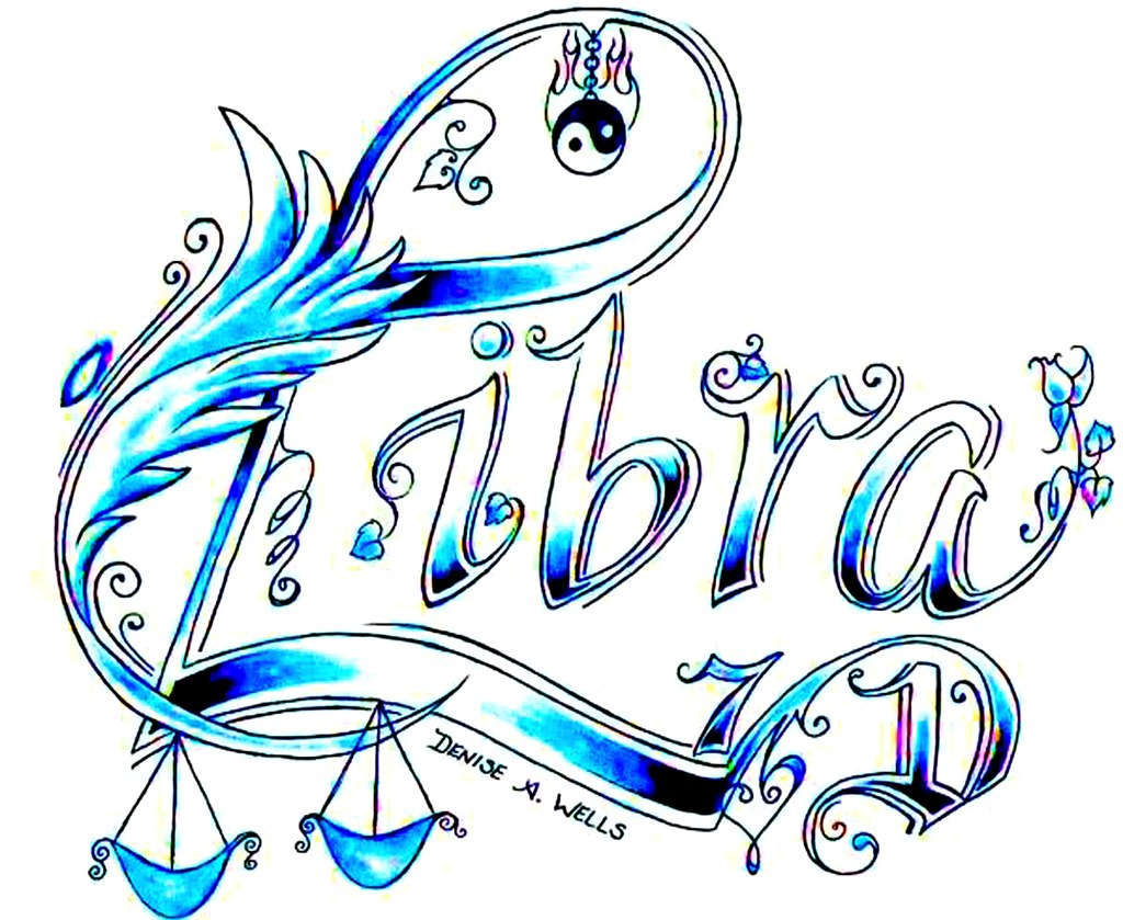 libra tattoo design by denise a wells september 23 octo flickr. Black Bedroom Furniture Sets. Home Design Ideas