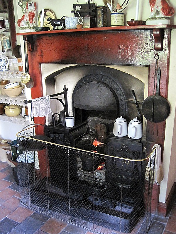 English Kitchen Antique Island