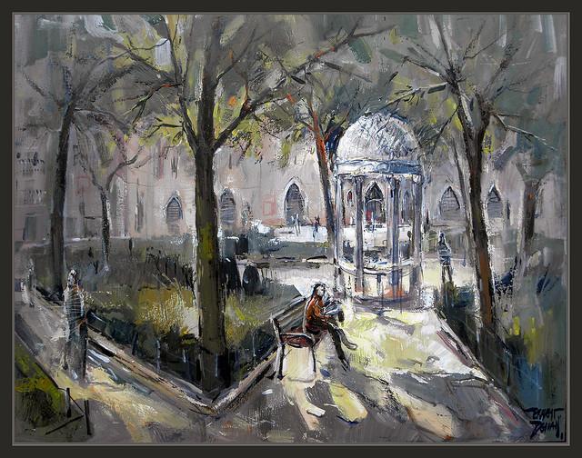 Terrassa parc sant jordi pintura ernest descals flickr - Pintores en terrassa ...