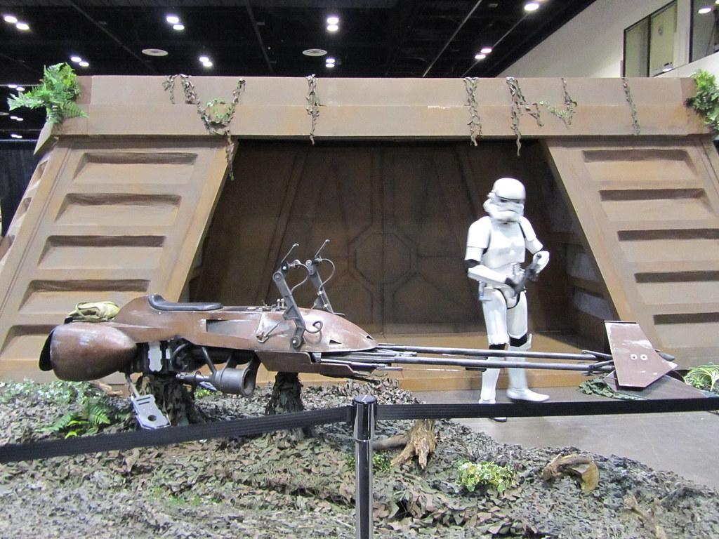 Life-size Endor bunker and speeder bike | DRJedi1138 | Flickr