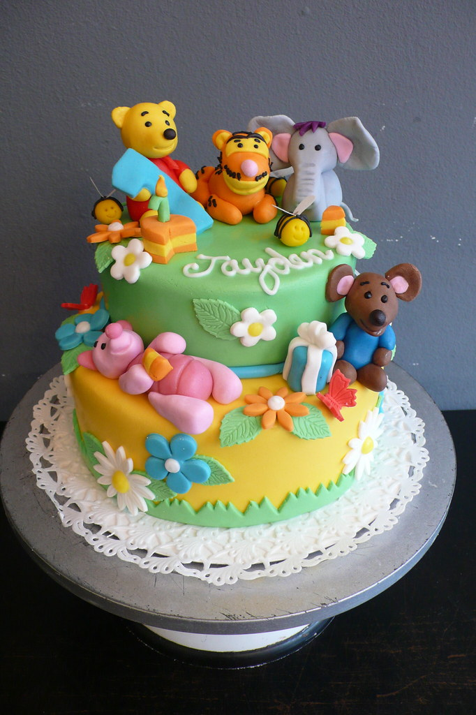 Pooh Bear Cake Design : Winnie The Pooh Birthday Cake 1st Birthday cake with a ...