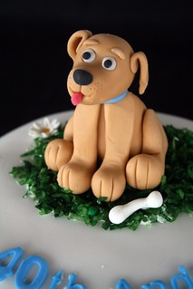 Close up of fondant puppy | by The Cake Boutique