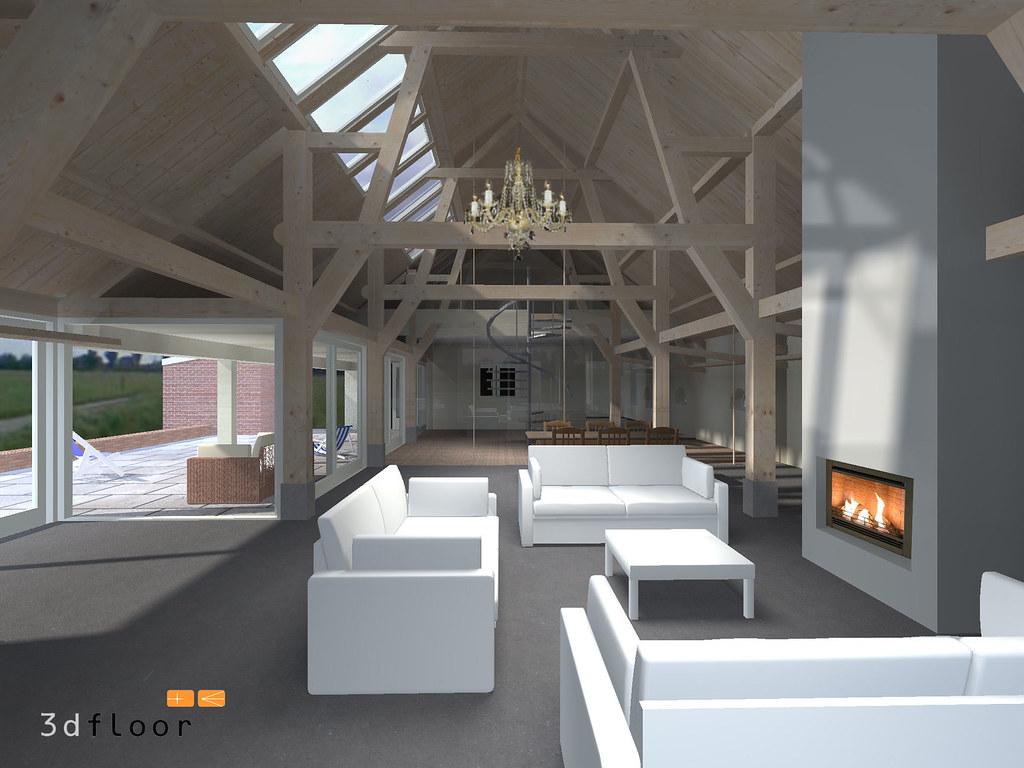 Boerderij interieur impressies begane grond zithoek for Boerderij interieur