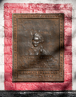 Thomas Paine Plaque (1923), 59 Grove Street, Greenwich Village, New York, New York | by lumierefl