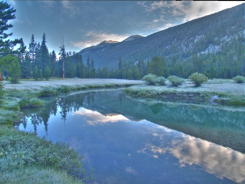 Another HDR shot, looking down-canyon this time at the Tuolumne River in Lyell Canyon