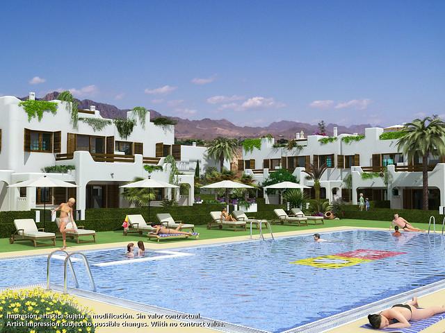 Obra nueva en almer a costa apartamentos en playa de almer a mar de pulp flickr photo - Apartamentos almeria ...