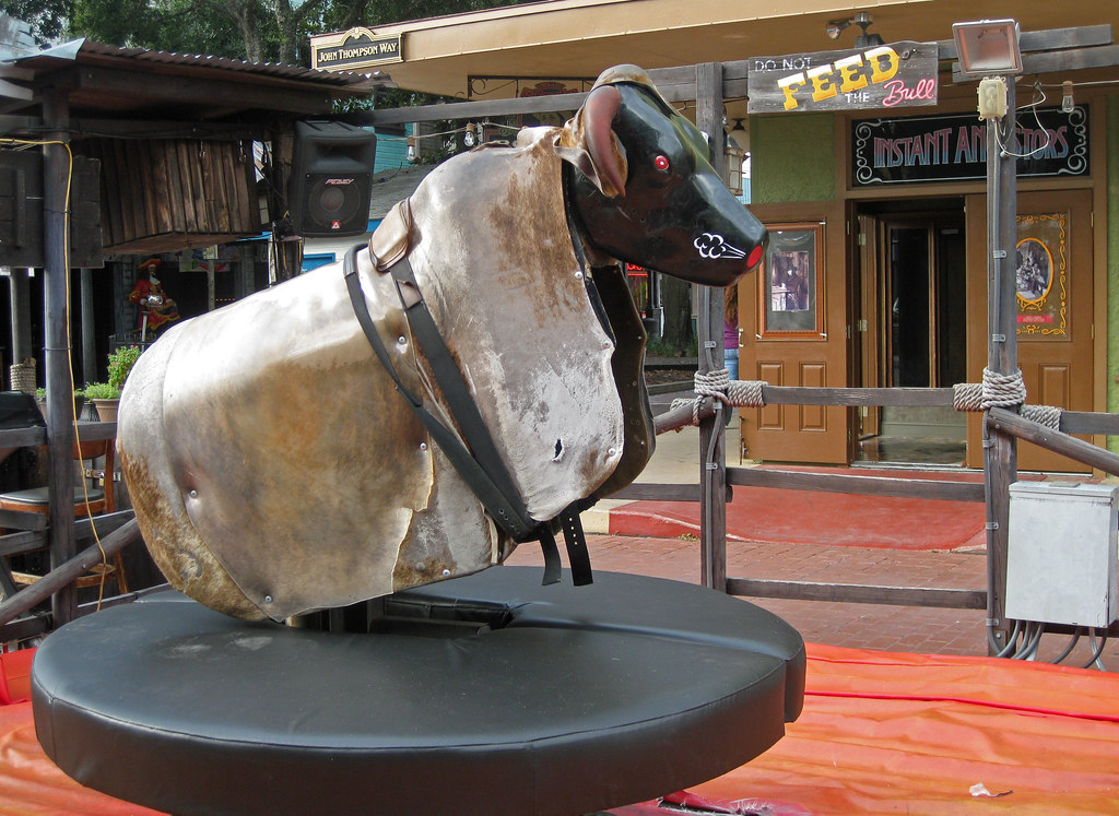 Mechanical Bull At Old Town Kissimmee Fl Rrusty Flickr