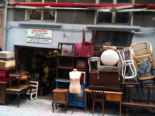 Vintage furniture shop in Istanbul Yard Sale Bloodbath Flickr
