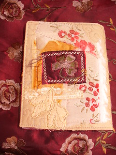 Stamped Collaged Needlebook - Back | by suziqu