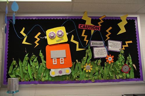 Robot Classroom Decoration Ideas : Bulletin board brainstorm advisory krissy venosdale