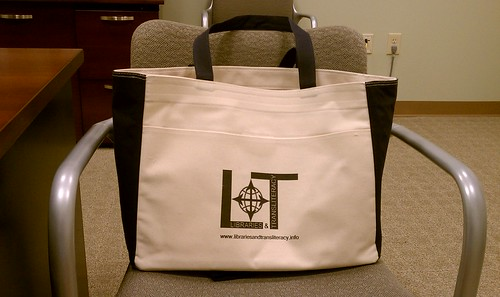 Libraries and Transliteracy totebag | by Bobbi Newman