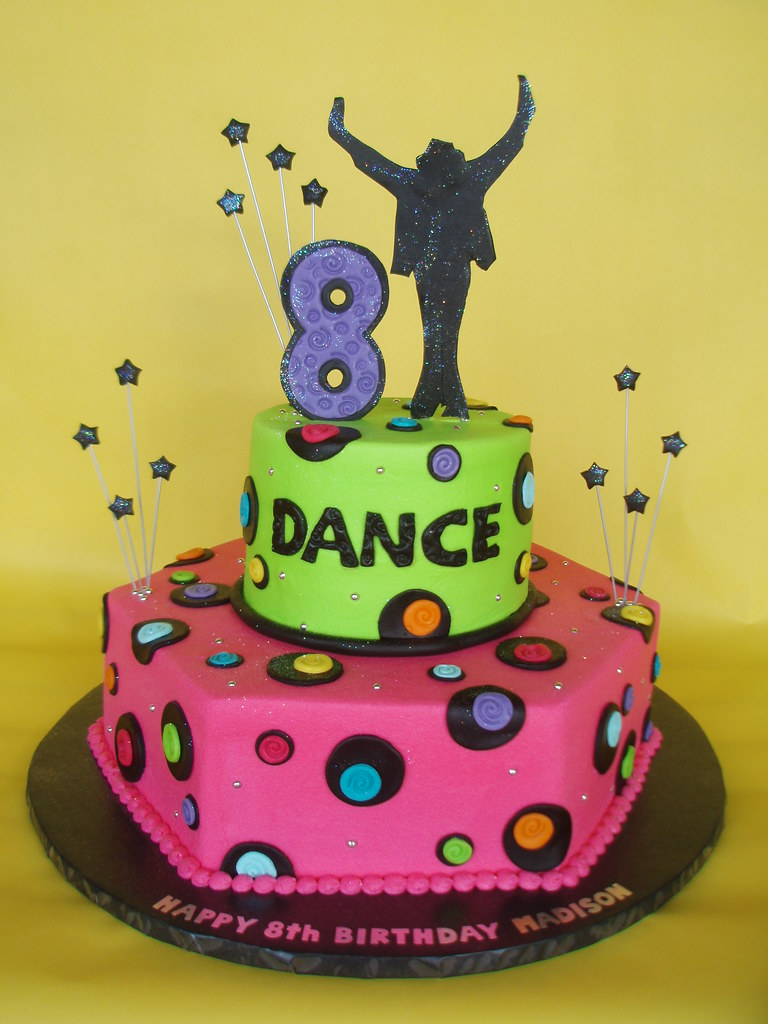 Clipart Birthday Dancing Cake : Neon Michael Jackson Dance Themed Birthday Cake I have ...