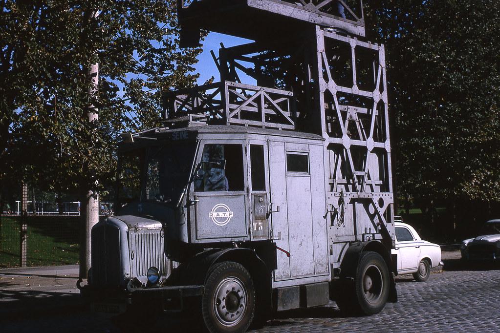 jhm 1965 0774 paris voiture chelle pour trolleybus. Black Bedroom Furniture Sets. Home Design Ideas