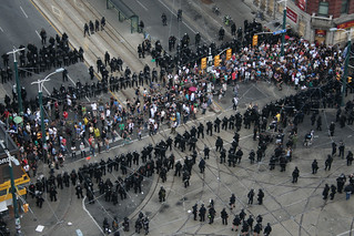 People Boxed in at Queen and Spadina | by Jonas Naimark