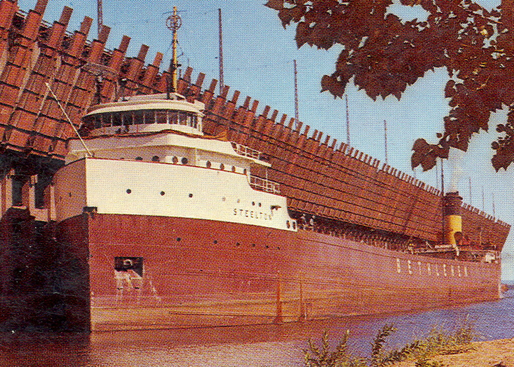 Great Lakes Freighter Ore Carrier Steelton Bethleham Steam