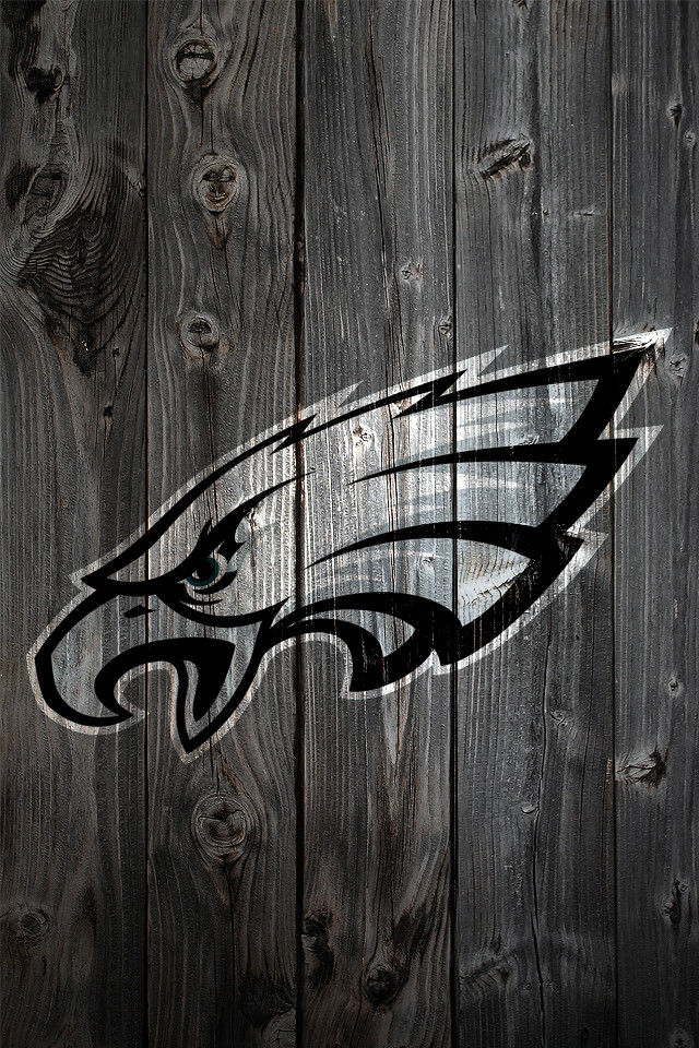 Philadelphia Eagles Wood IPhone 4 Background