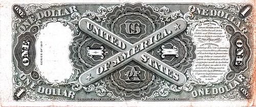 One Dollar US Note - 1917 --  reverse | by luxomni